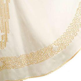 Casula liturgica shantung ricamo croce dorata stilizzata s8