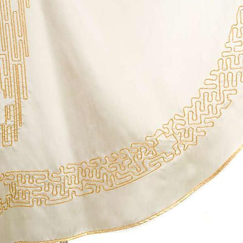 Casula liturgica shantung ricamo croce dorata stilizzata 8