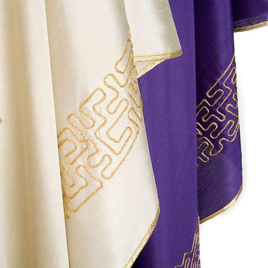 Chasuble stylized cross shantung 4
