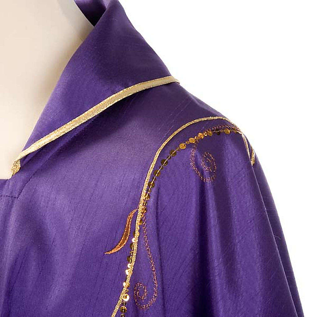 Chasuble Chi-Rho chalice shantung 4