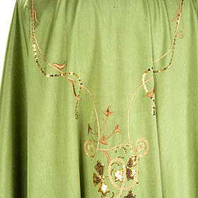 Chasuble Chi-Rho chalice shantung s4