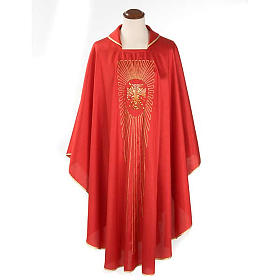 Chasuble cross rays shantung s1