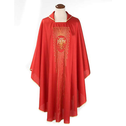 Chasuble cross rays shantung 1