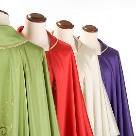 Chasuble with IHS grapes, shantung s4