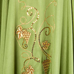 Chasuble with IHS grapes, shantung s5