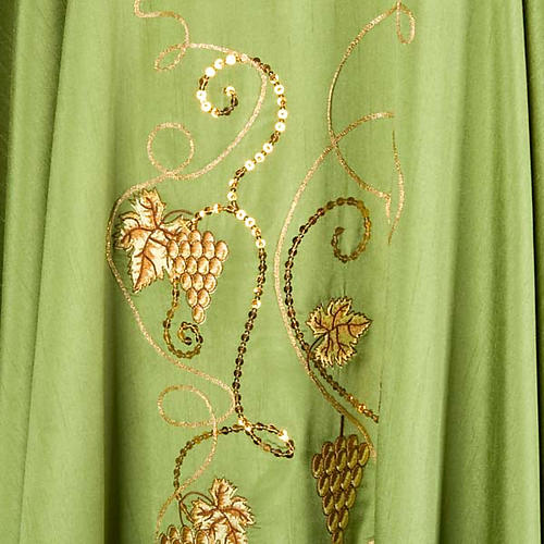 Chasuble with IHS grapes, shantung 5