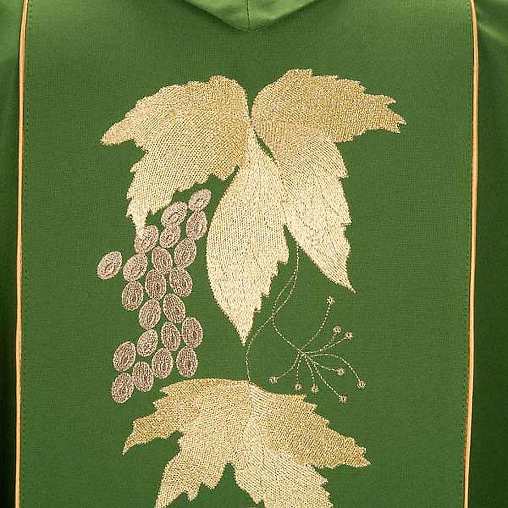 Kasel und Stole IHS Trauben und Weinblätter. 4