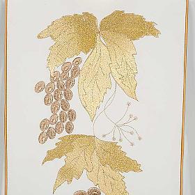 Kasel und Stole IHS Trauben und Weinblätter. s7