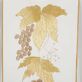 Chasuble and stole with IHS and grape leaves s7