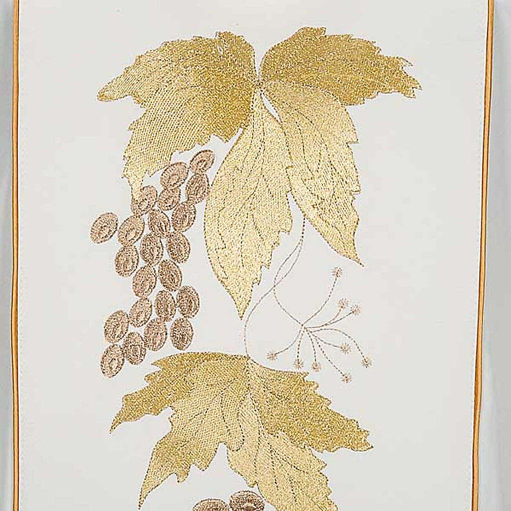 Casula e stola IHS uva e foglie di vite 4