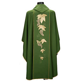 Catholic Priest Chasuble and stole with IHS and grape leaves s4