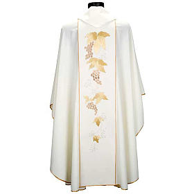 Catholic Priest Chasuble and stole with IHS and grape leaves s6