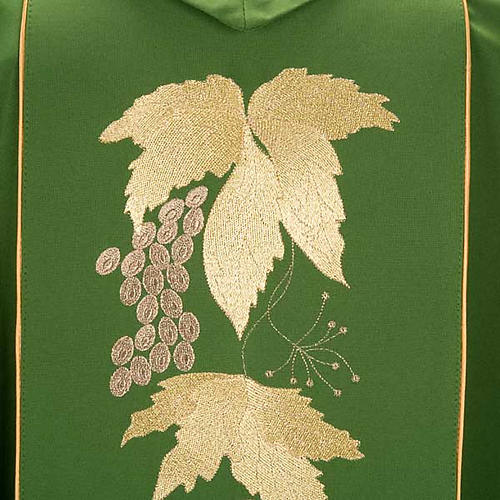 Catholic Priest Chasuble and stole with IHS and grape leaves 5