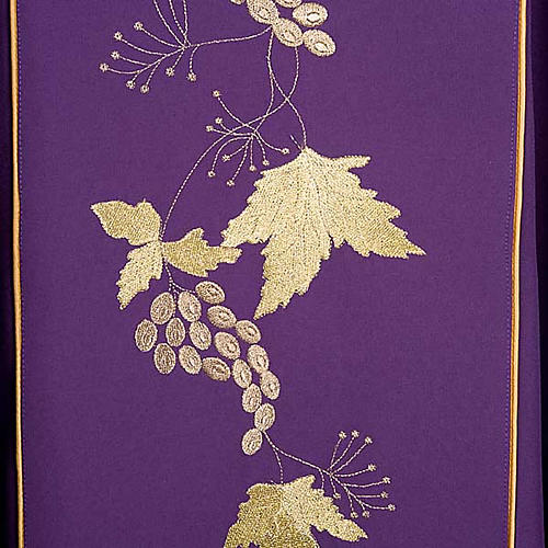 Catholic Priest Chasuble and stole with IHS and grape leaves 9