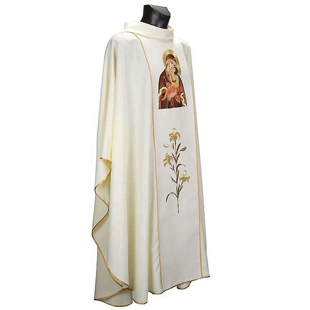 Casula mariana Madonna della Tenerezza e giglio 4