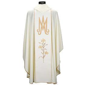 Casula mariana Madonna della Tenerezza e giglio s2