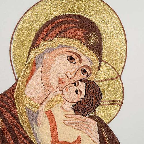 Casula mariana Madonna della Tenerezza e giglio 5