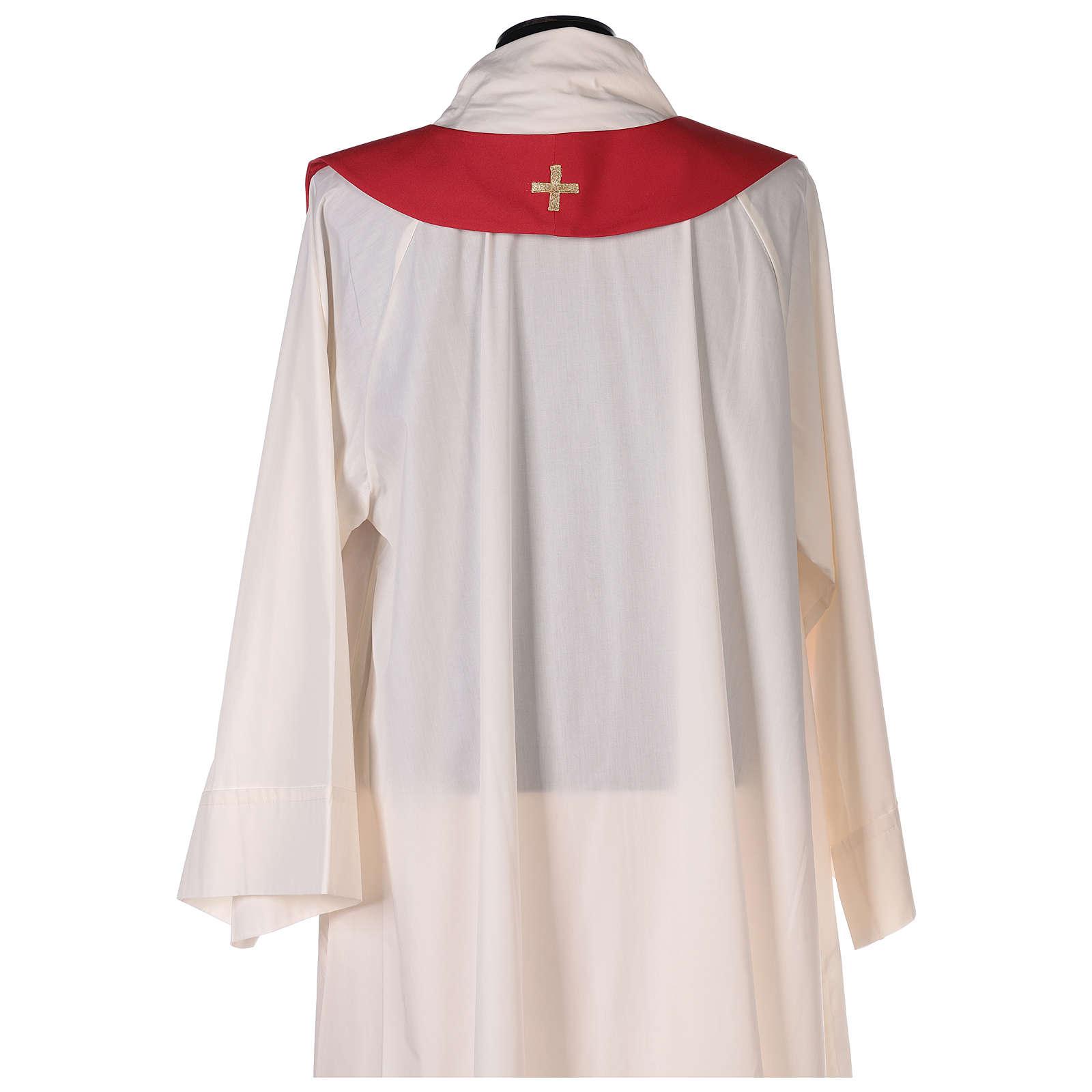 Casulla roja Espíritu Santo y llamas 4