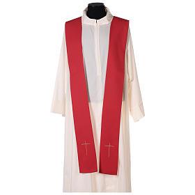 Chasuble rouge avec Saint Esprit et flammes s6