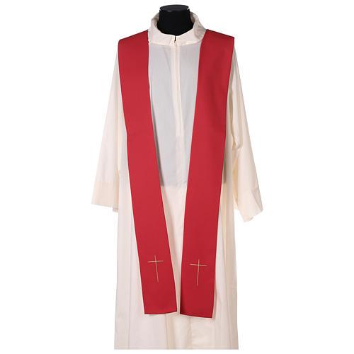 Chasuble rouge avec Saint Esprit et flammes 6