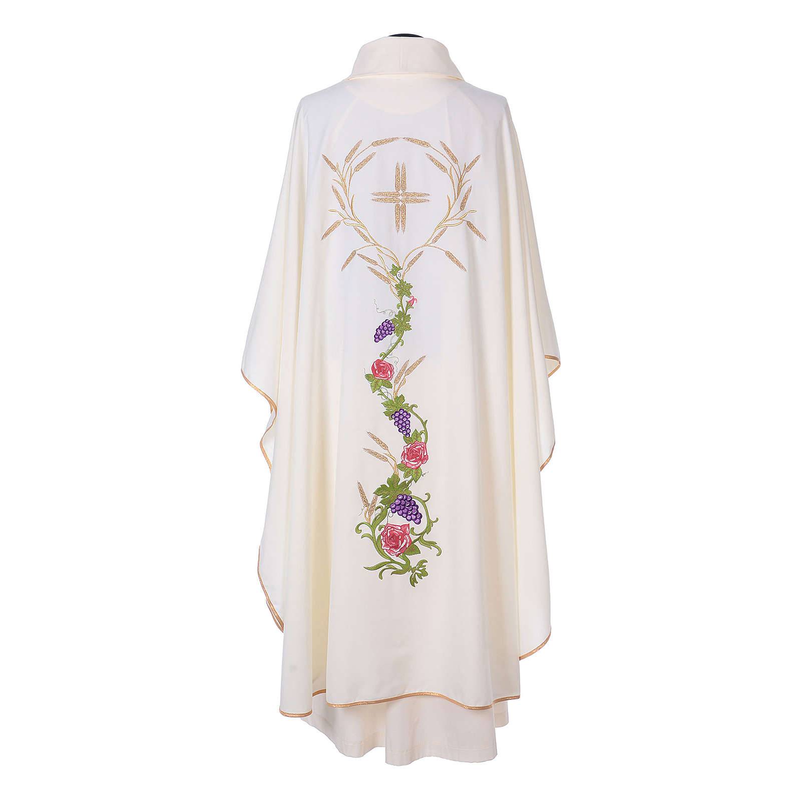 Chasuble with IHS, grapes and ears of wheat 4