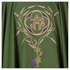 Chasuble with IHS, grapes and ears of wheat s16