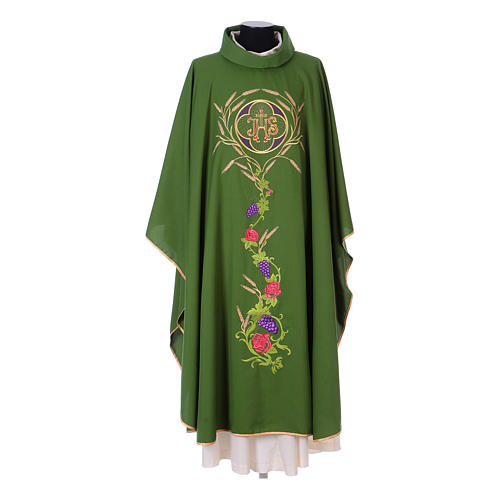 Chasuble with IHS, grapes and ears of wheat 3