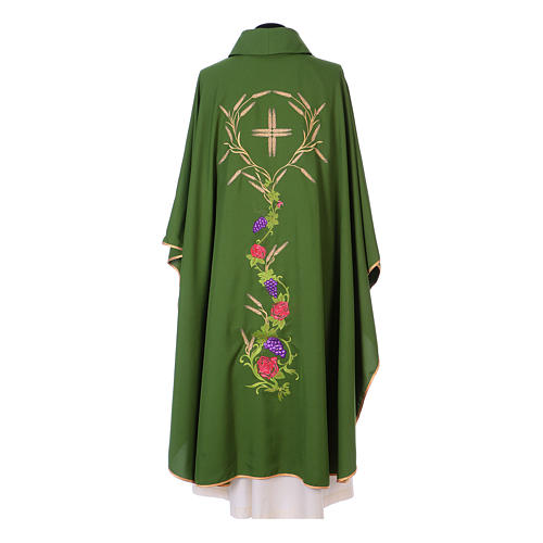 Chasuble with IHS, grapes and ears of wheat 7