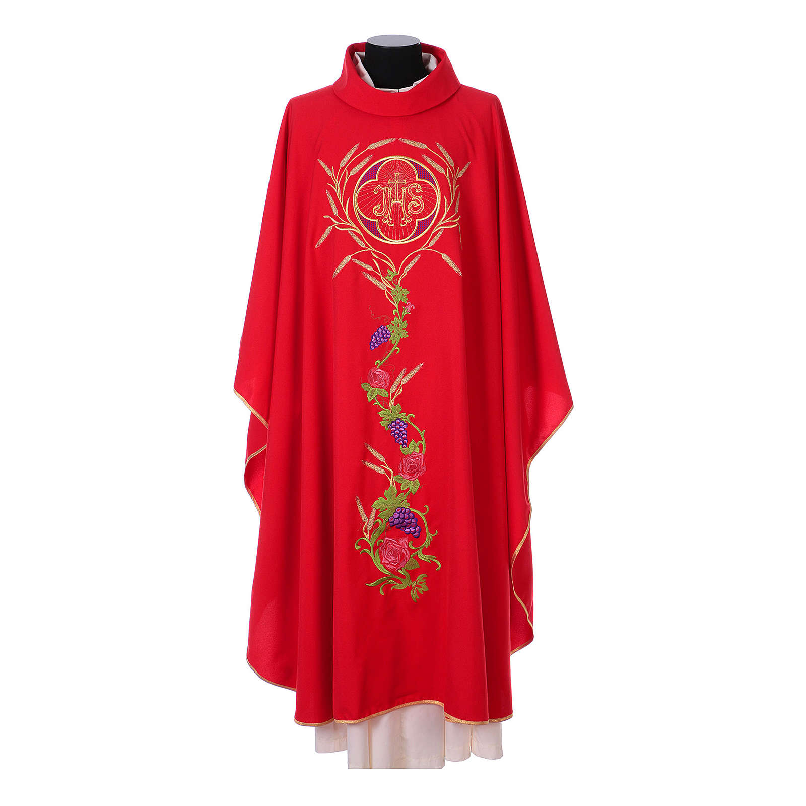 IHS Chasuble with grapes and ears of wheat 4