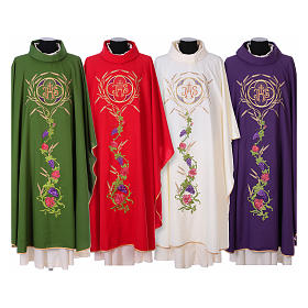 IHS Chasuble with grapes and ears of wheat s1