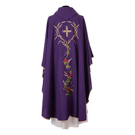 IHS Chasuble with grapes and ears of wheat s10