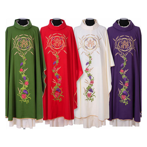 IHS Chasuble with grapes and ears of wheat 1
