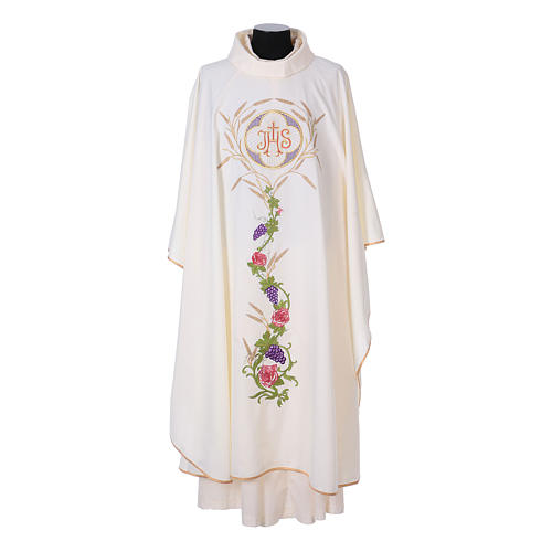 IHS Chasuble with grapes and ears of wheat 5