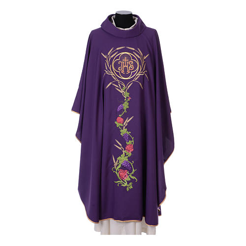 IHS Chasuble with grapes and ears of wheat 6