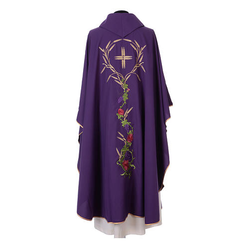IHS Chasuble with grapes and ears of wheat 10