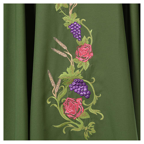 IHS Chasuble with grapes and ears of wheat 17