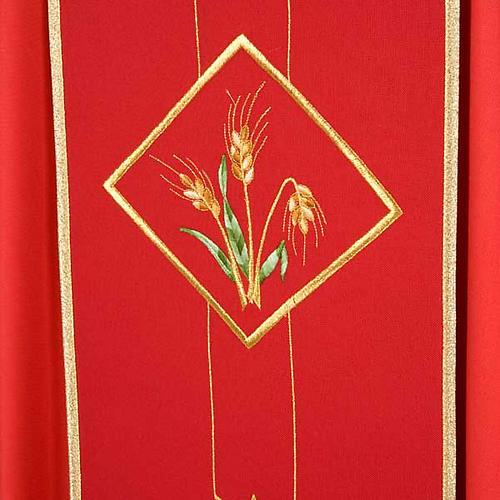 Casula liturgica eucarestia spighe uva 100% lana 5