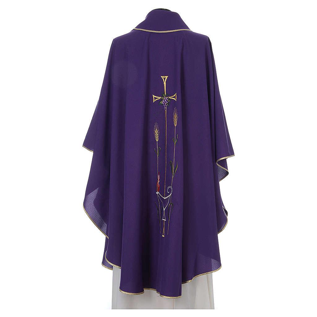Chasuble liturgique croix raisin lampe 4