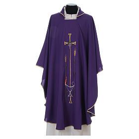 Chasuble liturgique croix raisin lampe s1