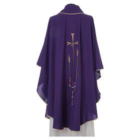 Chasuble liturgique croix raisin lampe s2