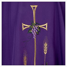 Chasuble liturgique croix raisin lampe s5