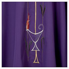 Chasuble liturgique croix raisin lampe s6