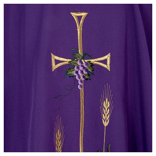 Chasuble liturgique croix raisin lampe 5
