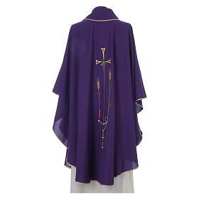 Casula liturgica croce uva lampada, con stola s2