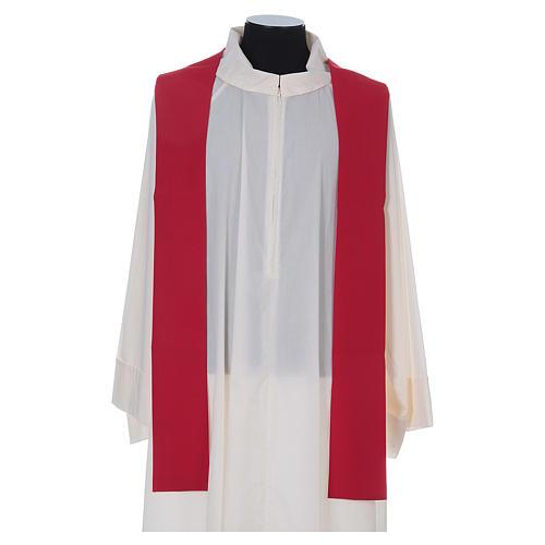 Casula liturgica croce uva lampada, con stola 7
