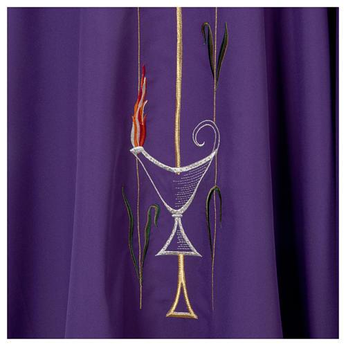 Casula liturgica croce uva lampada, con stola 6