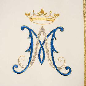 Casulla Mariana Virgen y símbolo 100% lana pintada a mano s3