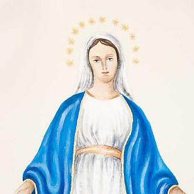 Casulla Mariana Virgen y símbolo 100% lana pintada a mano s4