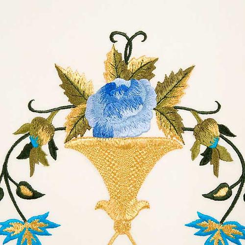 Casulla Mariana Virgen y símbolo 100% lana pintada a mano 5