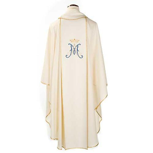 Casula mariana Madonna e simbolo 100% lana dipinta a mano 2